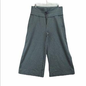 Lululemon grey wide leg yoga 7/8 pants size 10